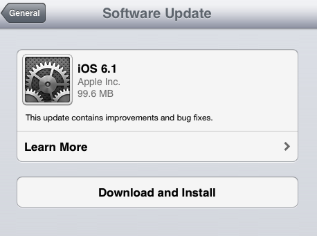 Apple has released the latest version of iOS operating system, iOS 6.1 for all iOS devices