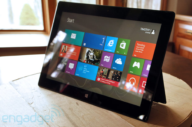 Microsoft Surface Pro. Source: Engadget