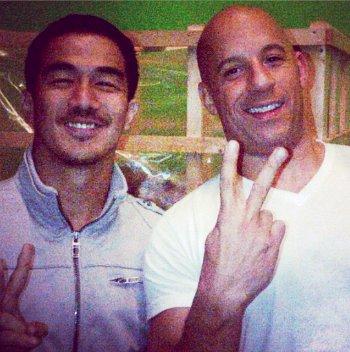 Joe Taslim and Vin Diesel - Fast & Furious 6