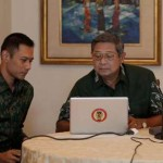 President Yudhoyono with his son