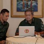 President Yudhoyono with his son