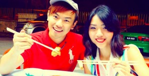 Malaysian blogger couple Alvin Tan Jye Yee & Vivian Lee