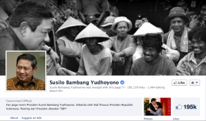 Indonesian President SBY's Facebook page