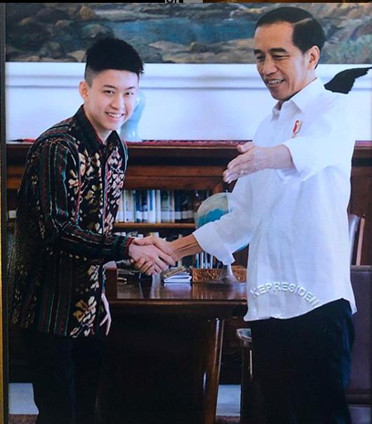 Rich Brian with President Joko Widodo
